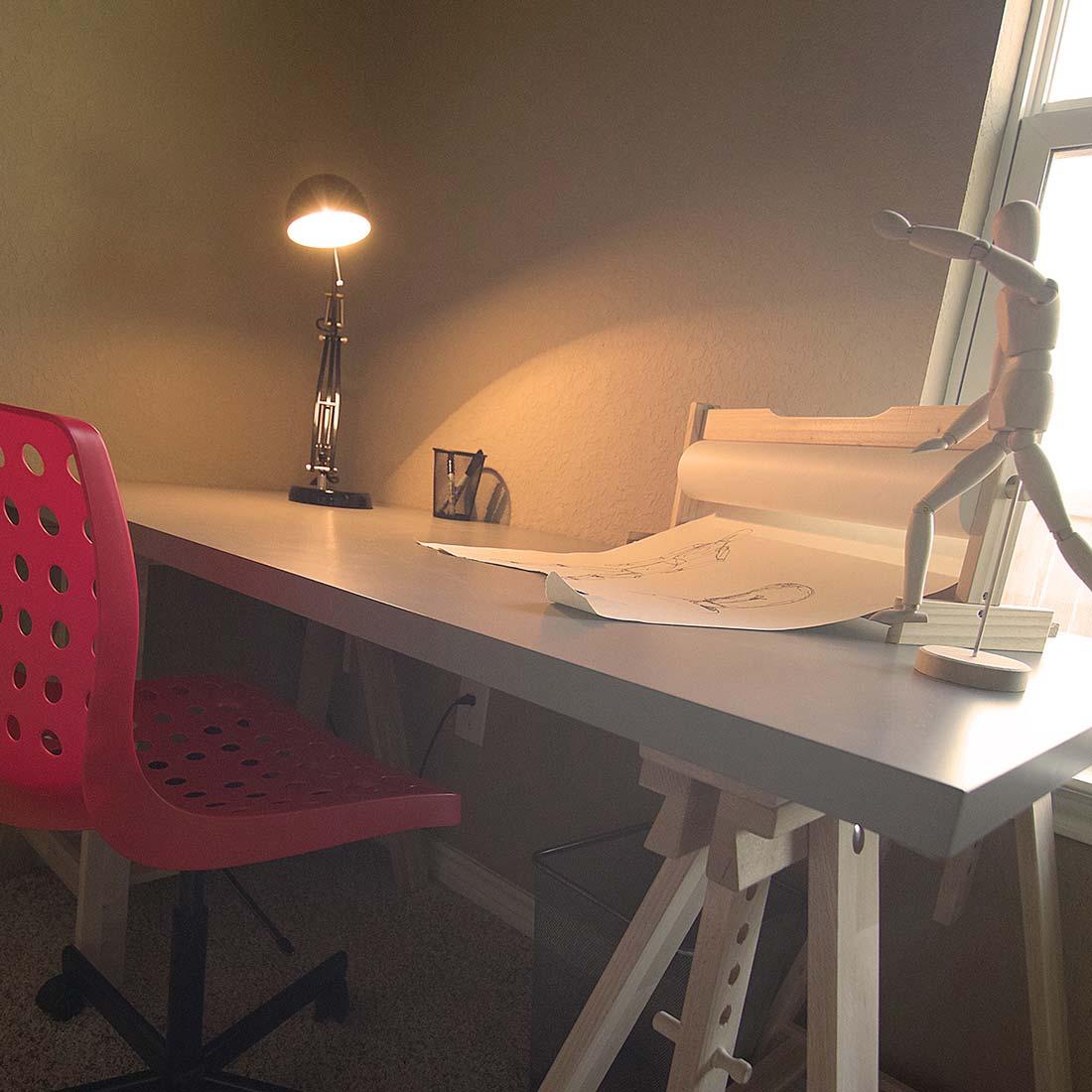 Boy's Desk, Model Home Staging