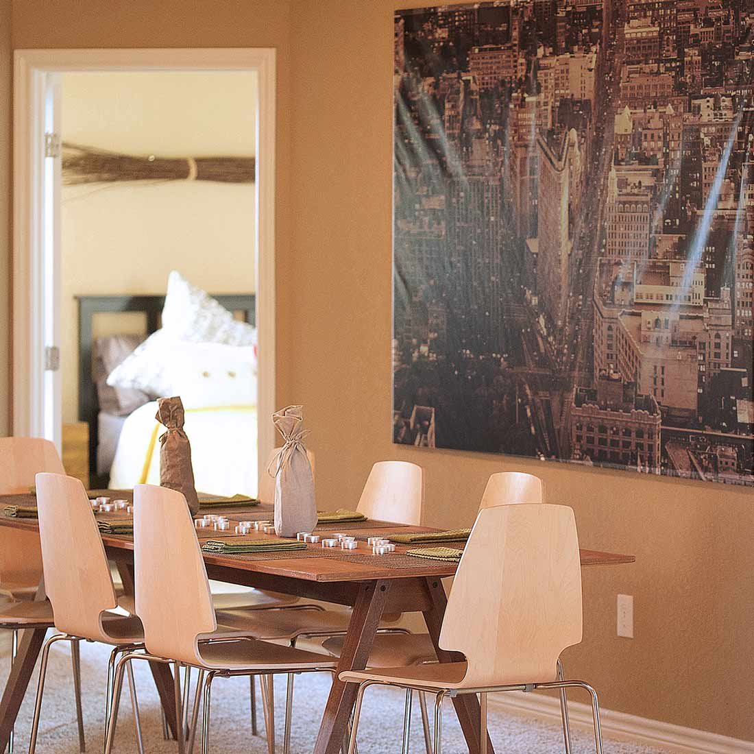 Dining Room Table, Model Home Staging