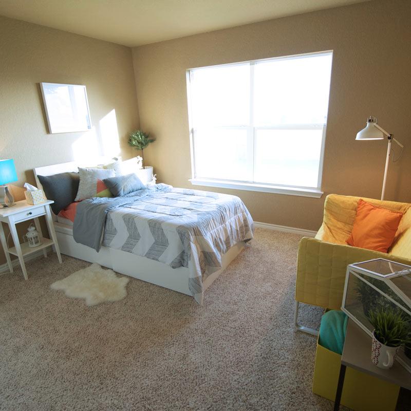 Girl's Bedroom, Model Home Staging