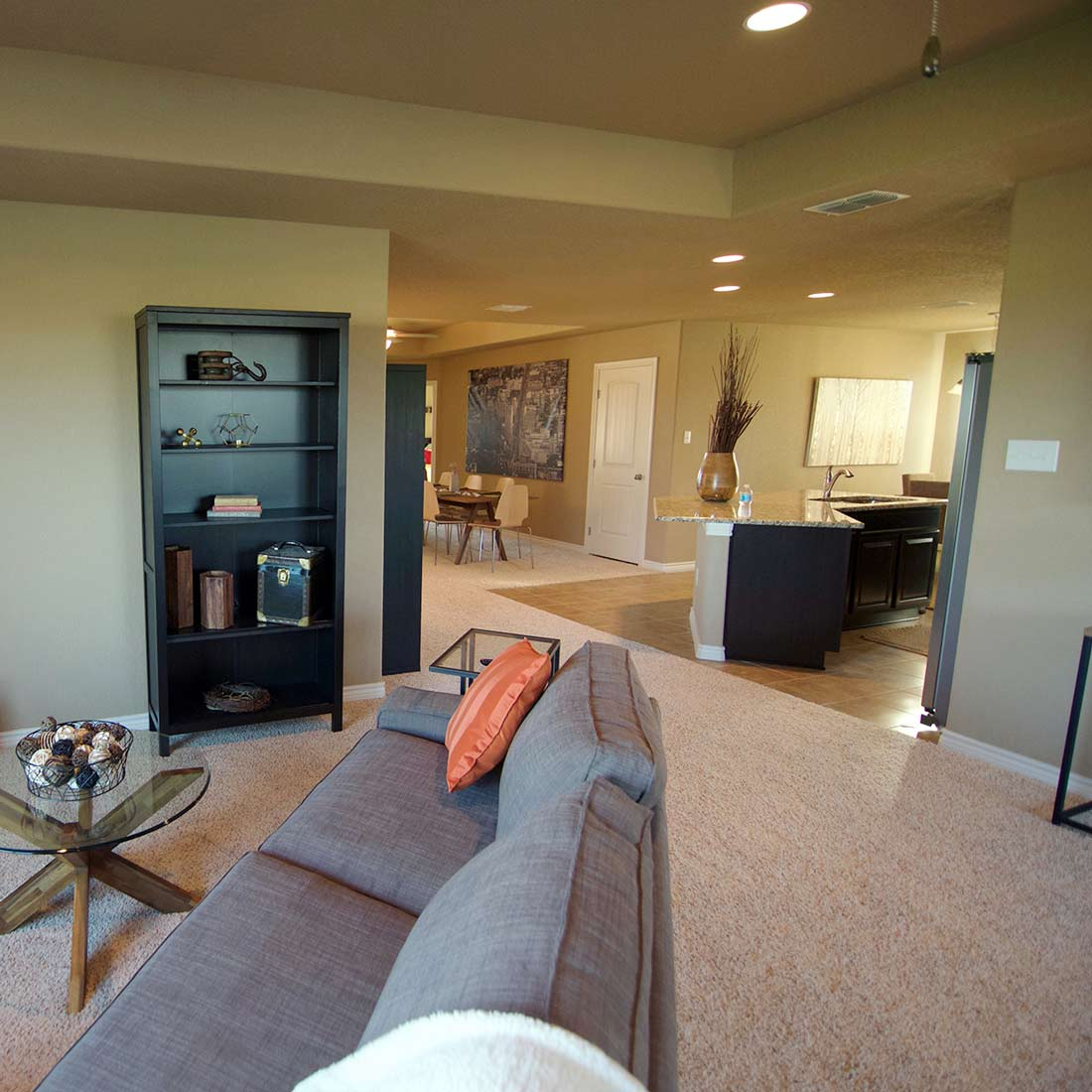 Living Room, Model Home Staging